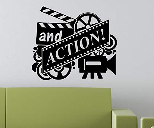 Wandtattoo Heimkino Filme und Action Zitate Wandtattoo Kino Dekorieren Schlafzimmer Wohnkultur 55x55cm