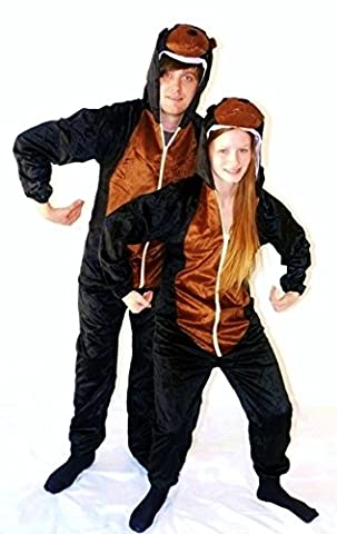 Monkey Animal Onesie Adult UNISEX Pyjamas Romper All-in-One Fancy Dress Costume (Men: Medium)