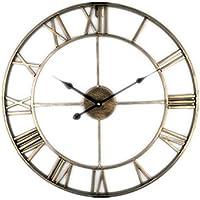 b0bb77d71b97 Relojes de Pared Atmósfera Simple Personalidad Creativa Moda Sala de Estar  Moderna cafetería Hierro Reloj Grande