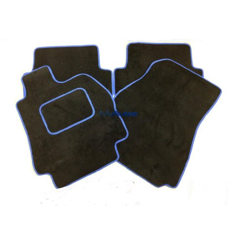 Preisvergleich Produktbild AUTOMOTIQ TOYOTA HI-LUX (97-05) double cab (1 X CLIP) Passfertige Schwarze Fußmatten + SONI...