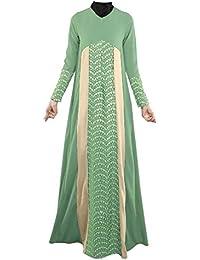 swall owuk Mujer Muslim Abaya Dubai Muslim ische Vestido Ropa Arab Árabe India Turco Casual para Vestido de Noche Boda Caftán Robe Máxima…