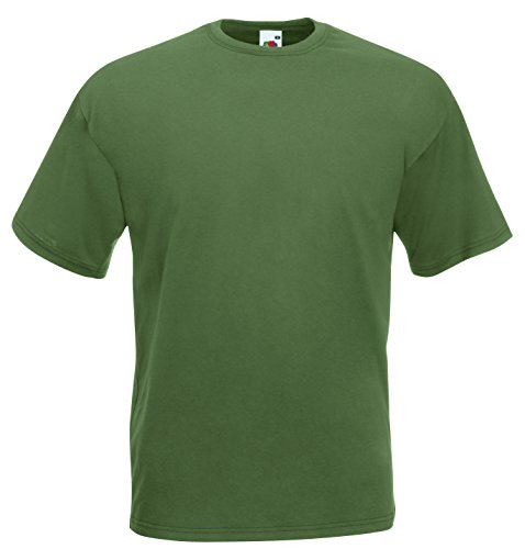 Fruit of the Loom T-shirt in cotone Verde