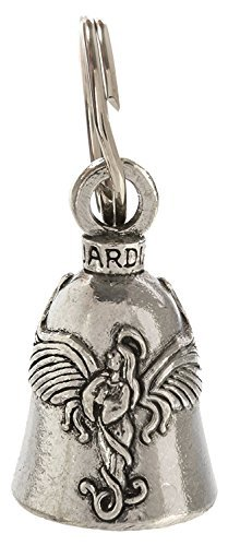 Guardian® Praying Angel with Halo and Wings Motorcycle Biker Luck Gremlin Riding Bell or Key Ring by Guardian® Bell (Bell Angel Guardian)