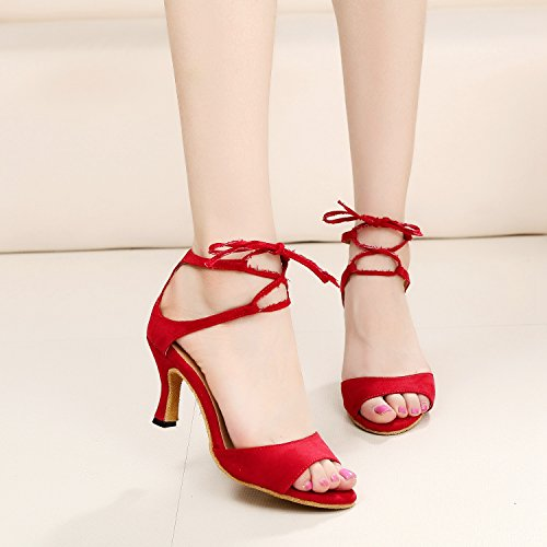 Minitoo ,  Damen Tanzschuhe Red-7.5cm Heel