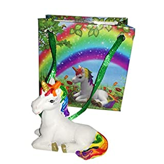 Nemesis Now Enchanted Rainbow Mini Unicorn Figurine and Gift Bag 4cm Christmas Stocking Party Bag Filler