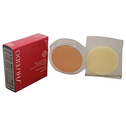 Sheer Finish Compact Foundation (Shiseido Sheer und Perfect Compact Refill unisex, Puder Foundation 10 g, Farbnummer: O40 fair ochre Refill, 1er Pack (1 x 0.21 kg))