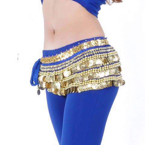 Belly Dance Hip Écharpe de jupe avec paillettes Idée de Cadeau de Noël Style 5