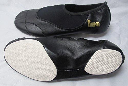 IWA Voltigierschuhe weiß oder schwarz (schwarz, 42)