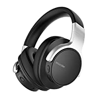 Mixcder E7 Active Noise Cancelling Bluetooth Headphones with Microphone Hi-Fi Stereo Headset Deep Bass Wireless Headphones Over Ear, Comfortable Protein Earpads for PC/Cell Phones/TV - Black