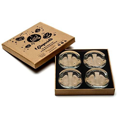 Fairment    4er Set Glas-Gewichte zur Fermentation von Sauerkraut, Kimchi, Gurken usw. Beschwerungsstein (Keramik-gewichte)