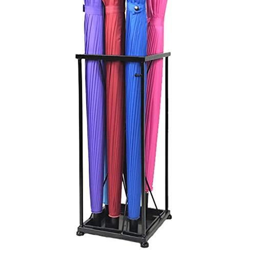 Wubing Umbrella Stand Storage Umbrella Bucket Hotellobby mit Umbrella Shelf Landing müssen zusammengebaut und bequem Sein (Color : Black, Size : 20 * 20 * 49CM)
