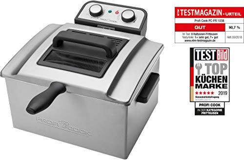 ProfiCook PC-FR 1038 Freidora de acero inoxidable