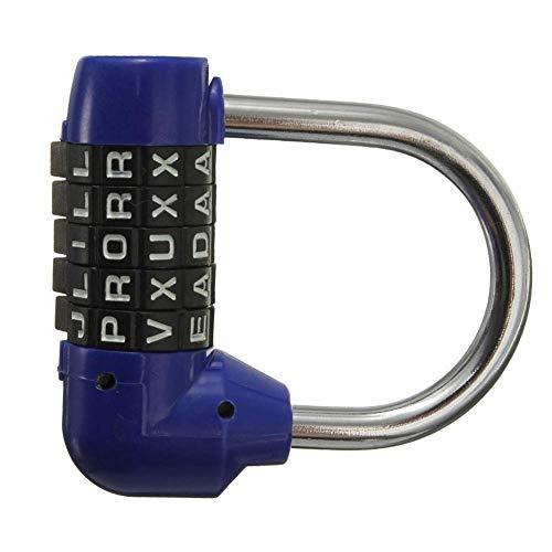 Ogquaton Candado Seguridad Código 5 Letras Combinación