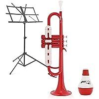 playLITE Pack de Trompeta Híbrida + Accesorios de Gear4music - Rojo