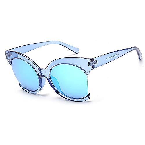 Yiph-Sunglass Sonnenbrillen Mode Klare Rahmen farbige Linse Persönlichkeit Persönlichkeit UV-Schutz Sonnenbrillen für Unisex-Erwachsene im Freien Fahren Reisen Sommer Strand (Farbe : C3)