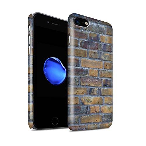 STUFF4 Glanz Snap-On Hülle / Case für Apple iPhone 8 / Alt/Gelb Muster / Mauerwerk Kollektion Alt/Gelb