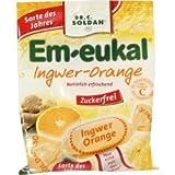 EM-eukal di zenzero Orange zuckerfrei caramelle, 75G