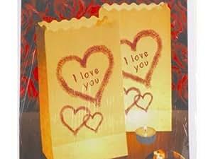 Luminaria Lot de lampe décorative Sachet–I Love You d', 26x 15x 9cm, 4St