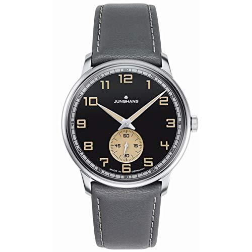 Junghans Reloj de Hombre Manual 37.7mm Correa de Cuero Color Gris 027/3607.00