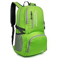 Besrina Lightweight Hiking Backpack Daypack, 35L Packable Travel Rucksack Foldable Water Resistant Day Bag for Men Women Camping Backpack, Ultralight Outdoor Sport Bags(Green)