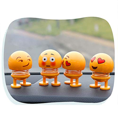 Nettes Autodekoration Innenraum Innenzubehör Autoverzierungs Zubehör Geschenk Kreative Kunststoff Ausdruck des kleinen gelben Mannes Auto Ornament Flip Kinder Spielzeug -