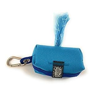 Kotbeutelspender, Kotbeuteltasche inklusive Kotbeutel, Hellblau-Blau