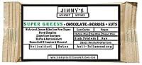 Jimmy's Gourmet Kitchen (Nutritional Green Bars)(Super Greens)(Chocolate + Berries + Nuts)(Detox Antioxidant Anti-Inflammatory)(Gluten Free Sugar Free Vegan)(50g Bars Pack of 6)(300g)