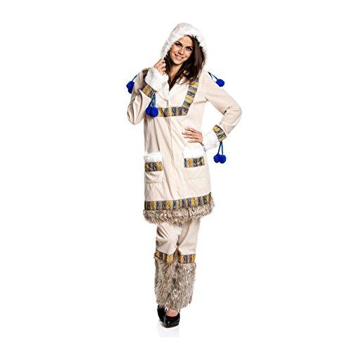 Kostümplanet® Eskimo Kostüm Damen Eskimokostüm Größe (Kostüme Eskimo)