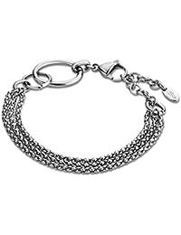 Lotus Style Pulsera para mujer de acero inoxidable plata Woman Basic de colección jls1817–de 21