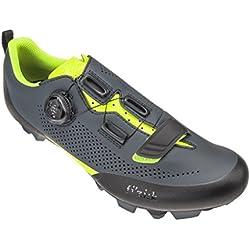 Fizik X5Terra MTB Zapatos, Gris/Amarillo, Gris/Amarillo