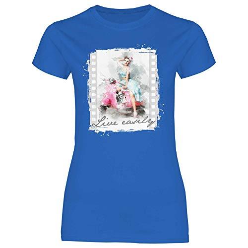 Royal Shirt Damen T-Shirt Vespa Girl, Größe:L, Farbe:Royal