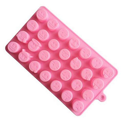 YSoutstripdu Silikon Ice Candy Cute Emoji Baking Expression Chocolates Cake Mold DIY Mould Schokoladeneis Popsicle Kuchen Süßigkeiten - Moulds Silikon Molds