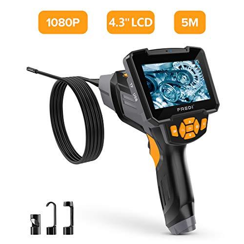 Endoskopkamera Digital Inspektionskamera 5 M Hand Endoskop Kamera Wasserdicht 4,3 Zoll-LCD-Bildschirm 1080P HD Boreskop Video Kamera für Lüftungsrohr Maschinenausrüstung (Video Digital Kamera Professional)