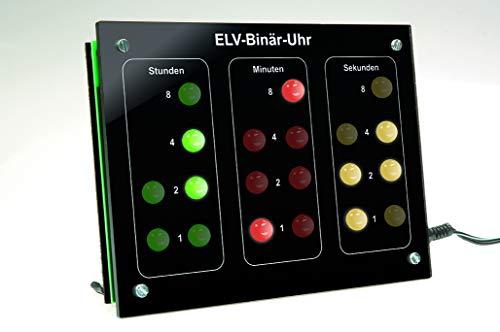 ELV Binär-Uhr BU 1, Komplettbausatz mit Frontplatte (ohne DCF-Modul)