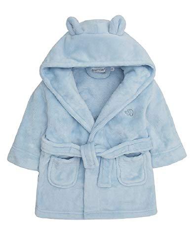 Babies kuscheln Fleece-Bademantel (0-6 Monate, Blau)