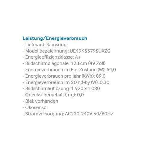 Samsung UE49K5579 - 3