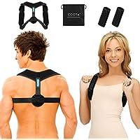 COOTA Haltungskorrektur Verstellbarer, Komfortabler Rücken- und Brustkorrektor und Atmungsaktive Schulterstütze mit 2 Weichen Pads, Schulter-, Brust- und Rückenübungen für Eine Bessere Körperform