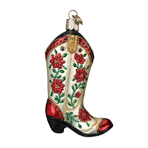 Prince of Scotts Christbaumschmuck, aus der Texas-Kollektion Cowgirl Boot