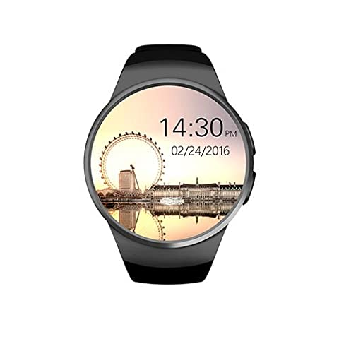 [EASTER GIFT] GPCT Bluetooth [Android/iOS] Touch Screen [Water Resistant] Workout/Sleep/Heart Rate Monitor Smart Watch for iPhone 7 Plus/7/6s Plus/6s/Galaxy S7/S6/S5/HTC/Sony/LG/Windows Phone- Black - Azione Heart Rate Monitor