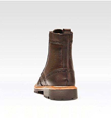 Hhy-cómodo Y Transpirableel Hombre Otoño E Invierno Botas Altas Guía De Ocio Al Aire Libre Más Terciopelo Gran Número De Zapatos Y Botas De Algodón Marrón