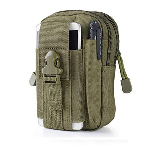 Egurs Taktische Gürteltasche | Universal Outdoor EDC Militär Wallet Wallet Pouch Phone Case mit Reißverschluss für iPhone 8 7 6s Plus Samsung Galaxy S9 S7 LG HTC und mehr ArmyGreen - Case Wallet Pouch Handy