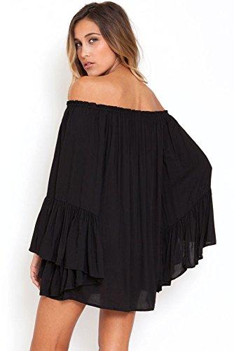 KingField - Robe - Bandeau - Manches Longues - Femme Multicolore Bigarré Taille Unique Noir