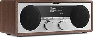 TechniSat DigitRadio 450 (DAB+, UKW, Internetradio, WLAN, UPnP-Client, Bluetooth), holz