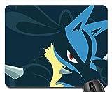 Lucario die Aura Pokemon Mauspad, Mousepad (25,9x 21,1x 0,3cm)