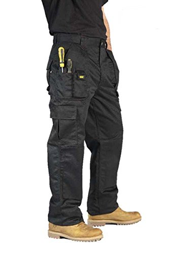 mens-cargo-work-trousers-size-30-to-42-by-mig-combat-with-knee-pad-pockets-40-waist-short-leg-black