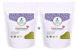 Herbs and Crops Natural Indigo Powder Combo, 227g (Pack of 2)
