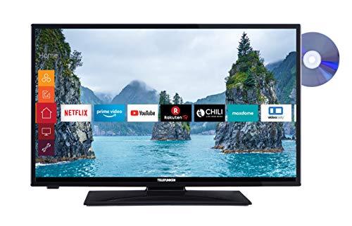 Telefunken XH28E501D 71 cm (28 Zoll) Fernseher (HD Ready, Triple-Tuner, Smart TV, DVD-Player integriert)