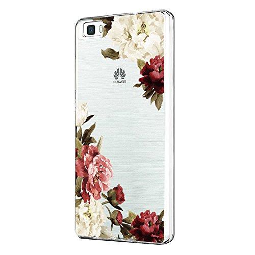 18eay Huawei P8 Lite 2015 Hülle Weiche Flexible Silikon-Handy-Hülle Transparente TPU Cover Schale mit Case Ultra Slim Handyhülle Schutzhülle Case für Huawei P8 Lite 2015 (3, Huawei P8 Lite 2015)