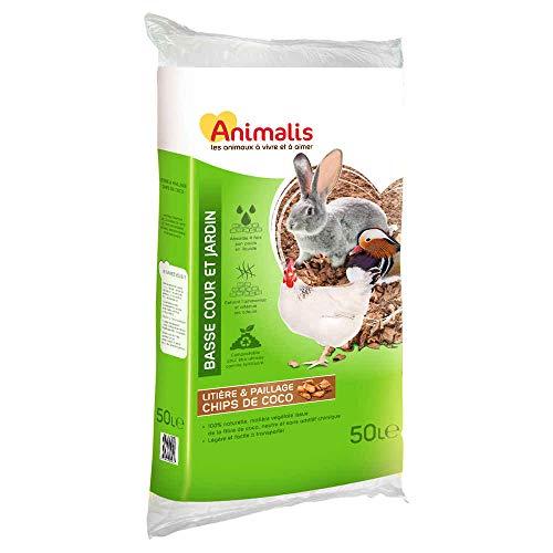 Animalis - Litière Chips de Coco Basse Cour et Jardin - 50L