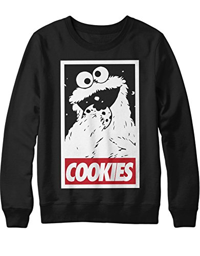 Sweatshirt Cookie Monster Cookies C980015 Schwarz XL - Monster-pyjama Herren-cookie